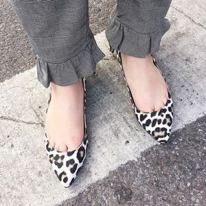 Carven pointy flats with cool leopard print